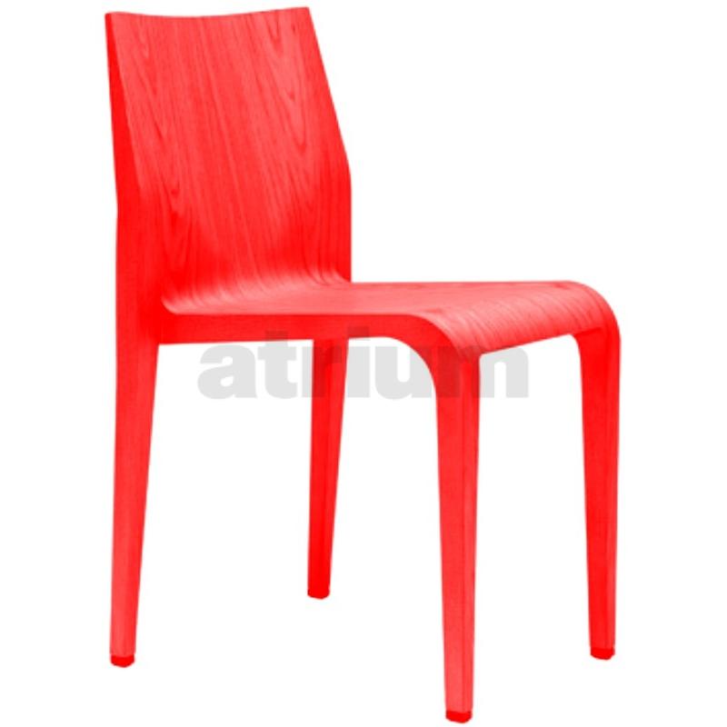 Alias laleggera 301 stuhl rot gebeizt 376 00 for Design stuhl rot