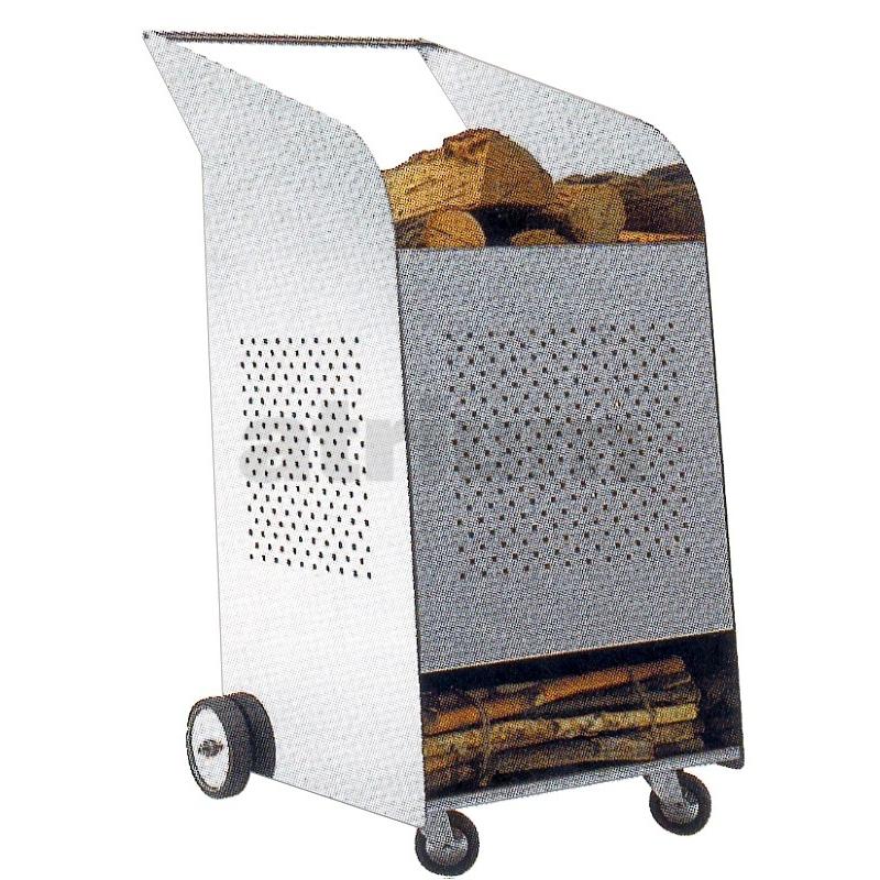 kaminholzwagen maxi edelstahl indoor 100 cm h 499 00. Black Bedroom Furniture Sets. Home Design Ideas