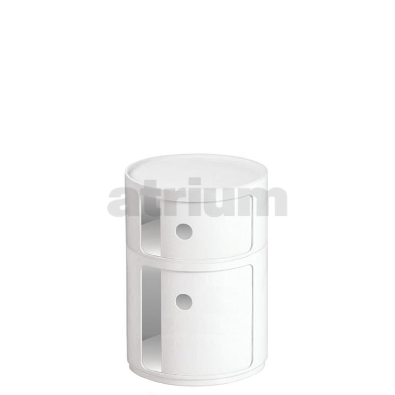 kartell container rund 07 42 cm weiss 169 00. Black Bedroom Furniture Sets. Home Design Ideas