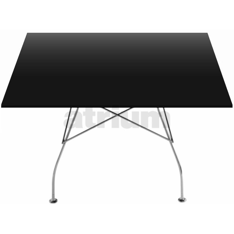 Kartell glossy tisch quadratisch polyesterlack schwarz 1 for Design tisch quadratisch