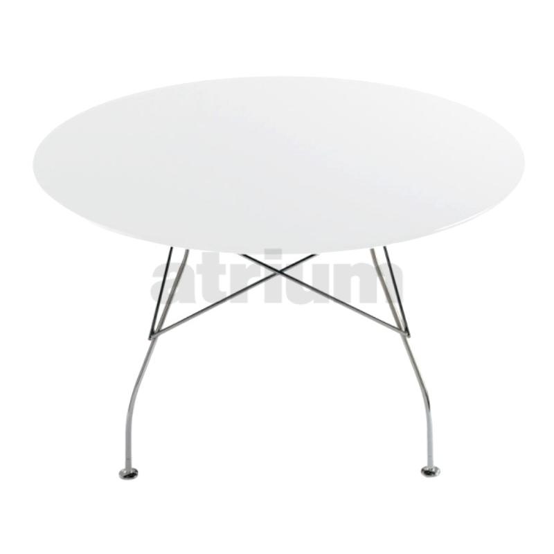 kartell glossy tisch rund laminat zinkweiss. Black Bedroom Furniture Sets. Home Design Ideas