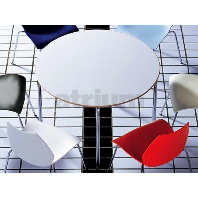 kartell maui tisch 100 rund anthrazit 645 00. Black Bedroom Furniture Sets. Home Design Ideas