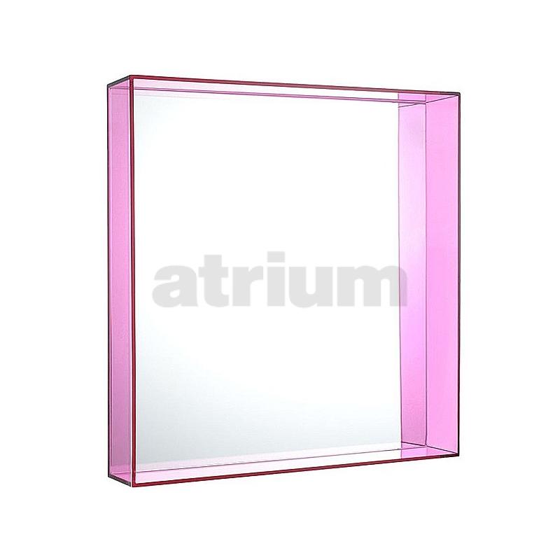 kartell only me spiegel 50 x 50 cm rahmen transparent pink 174 00. Black Bedroom Furniture Sets. Home Design Ideas