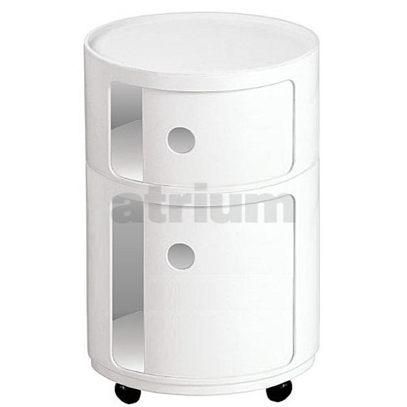 kartell rollcontainer rund 6 42 cm weiss 172 00. Black Bedroom Furniture Sets. Home Design Ideas