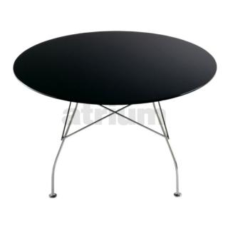 kartell glossy tisch rund polyesterlack schwarz. Black Bedroom Furniture Sets. Home Design Ideas
