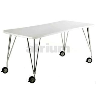 kartell max tisch auf rollen 160 x 80 cm zinkweiss 787 00. Black Bedroom Furniture Sets. Home Design Ideas