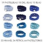 Hey-Sign Armband Pearly, Set Blau