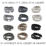 Hey-Sign Armband Pearly, Set Grau