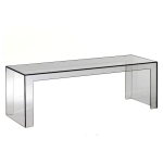 Kartell Invisible Table 120 x 40