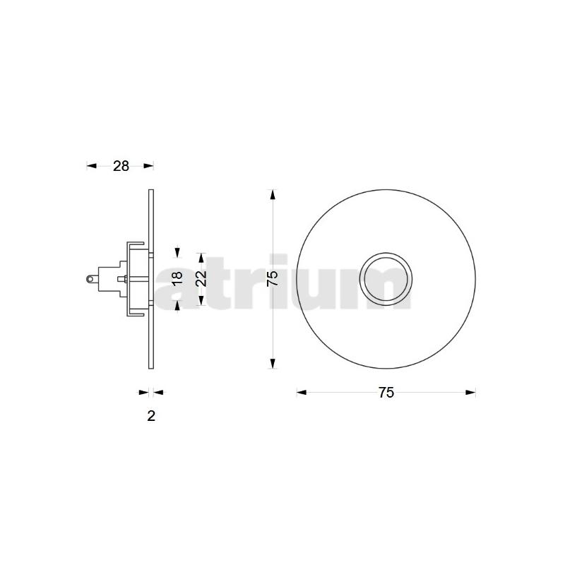 Bevorzugt Phos KK 75 R Türklingel, Edelstahl Durchmesser 75 mm, 112,00 € YW56