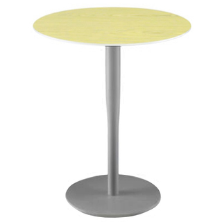 Alias Atlas Table M1, matt metallic grau, Alu Ahorn furniert