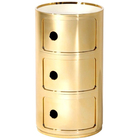 Componibili 3-er Container Gold metallic